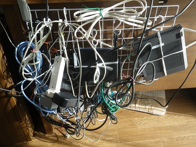 パソコン配線のスッキリ整理2