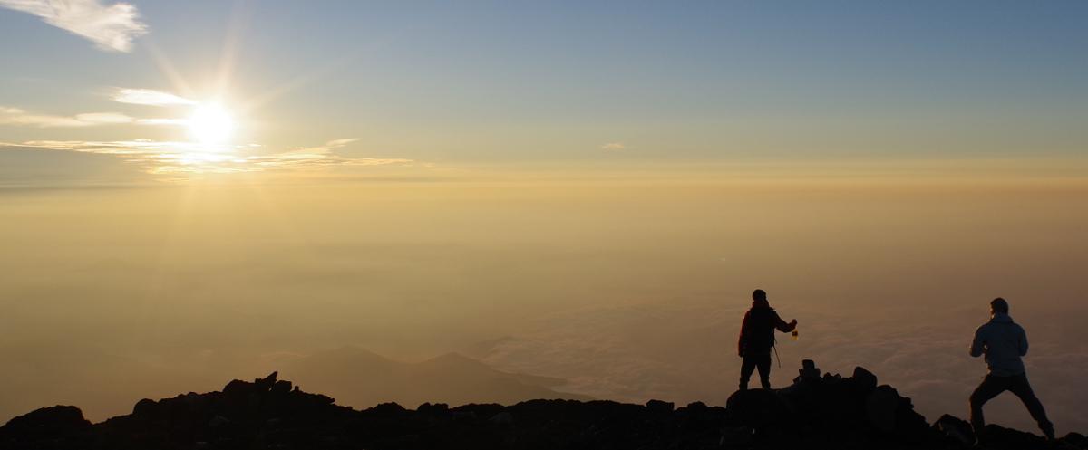 富士山頂 ご来光