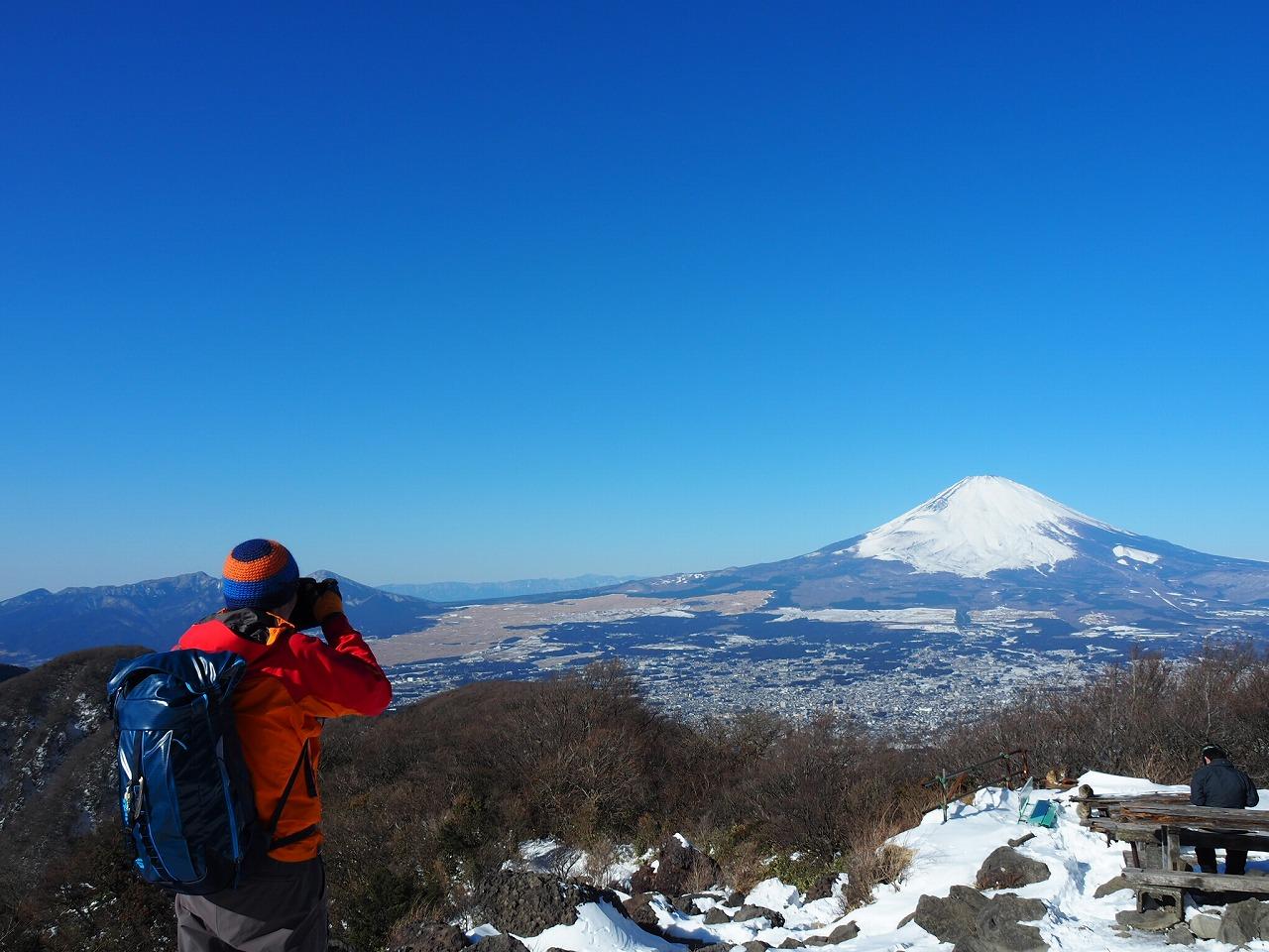巨大な山も、離れたところから見ると、全体を一望できる