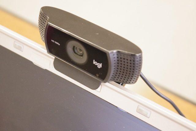 外付けのWebカメラ(logicool C922n)